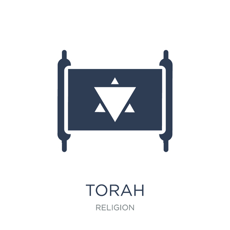 Torah icon. Trendy flat vector Torah icon on white background from Religion collection, vector illustration can be use for web and mobile, eps10