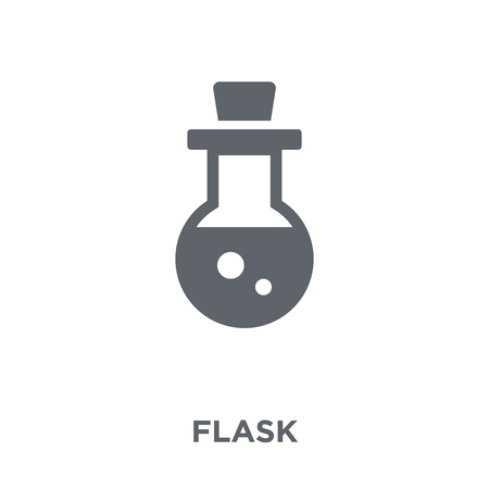 Flask icon. Flask design concept from  collection. Simple element vector illustration on white background.