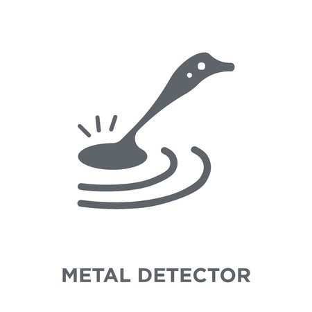 Metal detector icon. Metal detector design concept from Museum collection. Simple element vector illustration on white background. Illustration