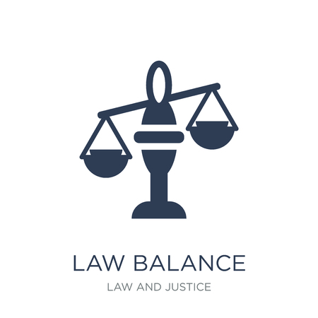law Balance icon. Trendy flat vector law Balance icon on white background from law and justice collection, vector illustration can be use for web and mobile, eps10 Illustration