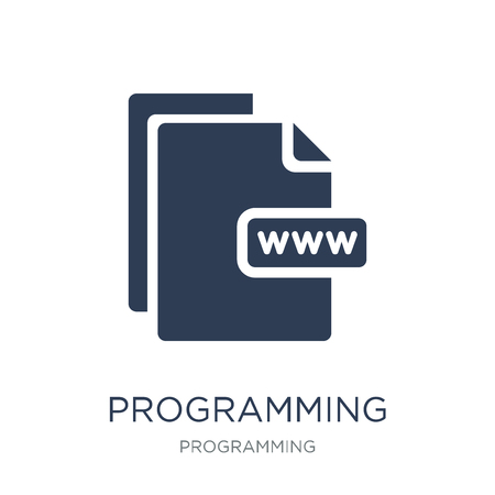 Programming language icon. Trendy flat vector Programming language icon on white background from Programming collection, vector illustration can be use for web and mobile, eps10