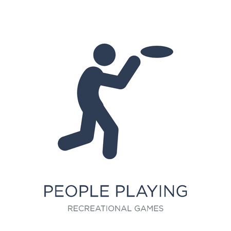 People playing icon. Trendy flat vector People playing icon on white background from Recreational games collection, vector illustration can be use for web and mobile, eps10