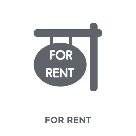 For rent icon. For rent design concept from  collection. Simple element vector illustration on white background.