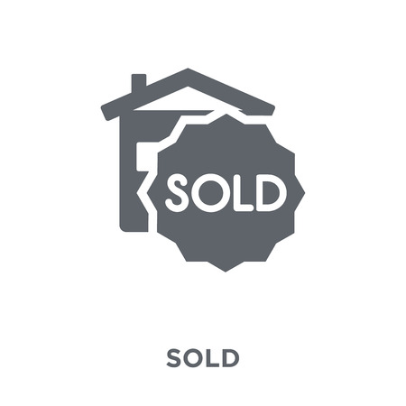 Sold icon. Sold design concept from  collection. Simple element vector illustration on white background. Banco de Imagens - 112276767
