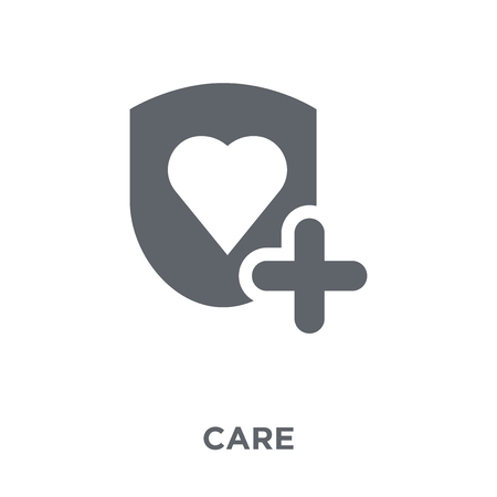 Care icon. Care design concept from  collection. Simple element vector illustration on white background. Reklamní fotografie - 112276765