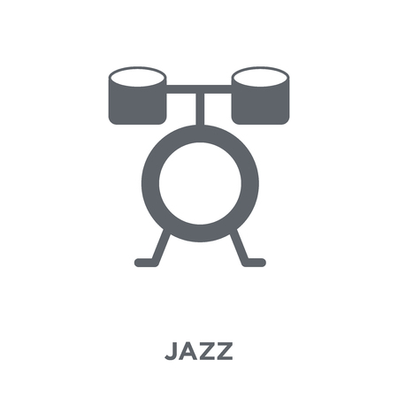 Jazz icon. Jazz design concept from Music collection. Simple element vector illustration on white background.