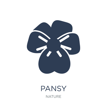 Pansy icon. Trendy flat vector Pansy icon on white background from nature collection, vector illustration can be use for web and mobile, eps10 Иллюстрация