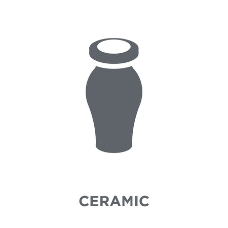 Ceramic icon. Ceramic design concept from Museum collection. Simple element vector illustration on white background.  イラスト・ベクター素材