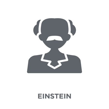 Einstein icon. Einstein design concept from  collection. Simple element vector illustration on white background. Illustration