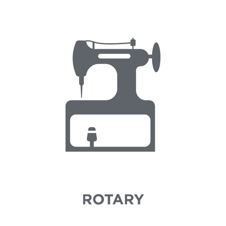 Rotary icon. Rotary design concept from Sew collection. Simple element vector illustration on white background. Illustration