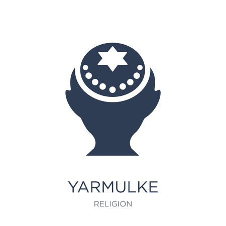 Yarmulke icon. Trendy flat vector Yarmulke icon on white background from Religion collection, vector illustration can be use for web and mobile, eps10