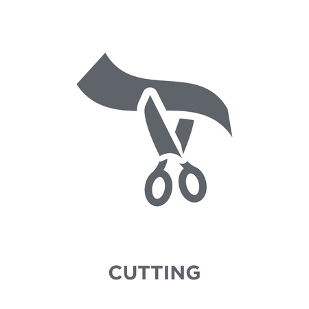 Cutting icon. Cutting design concept from  collection. Simple element vector illustration on white background.