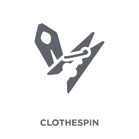 Clothespin icon. Clothespin design concept from Sew collection. Simple element vector illustration on white background.