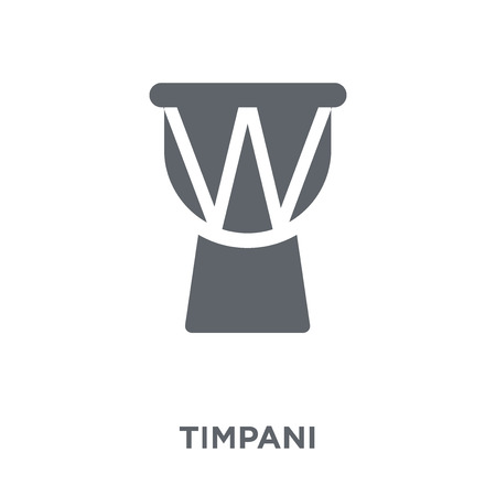 Timpani icon. Timpani design concept from Music collection. Simple element vector illustration on white background.