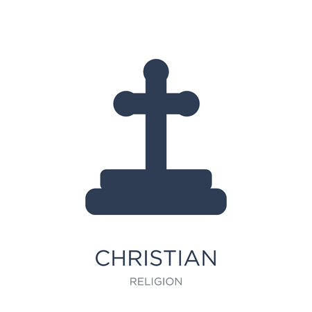 Christian icon. Trendy flat vector Christian icon on white background from Religion collection, vector illustration can be use for web and mobile, eps10