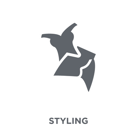 styling icon. styling design concept from Sew collection. Simple element vector illustration on white background. Иллюстрация