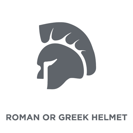 roman or greek Helmet icon. roman or greek Helmet design concept from Museum collection. Simple element vector illustration on white background. 向量圖像