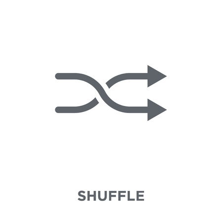 Shuffle icon. Shuffle design concept from  collection. Simple element vector illustration on white background.
