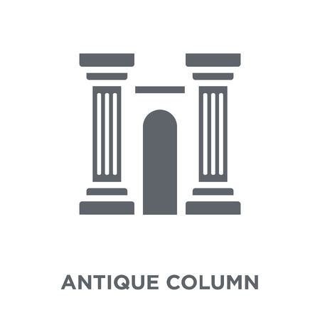 antique Column icon. antique Column design concept from Museum collection. Simple element vector illustration on white background. Stok Fotoğraf - 112279156
