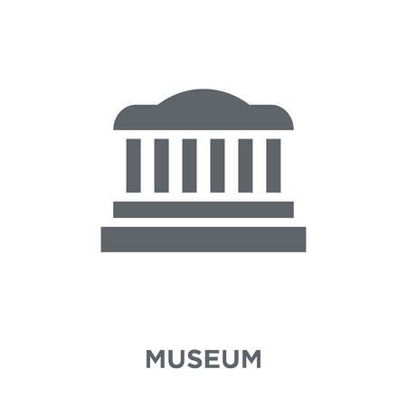 Museum icon. Museum design concept from  collection. Simple element vector illustration on white background.