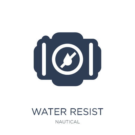 Water Resist Camera icon. Trendy flat vector Water Resist Camera icon on white background from Nautical collection, vector illustration can be use for web and mobile, eps10