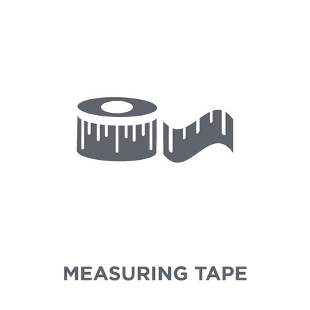 Measuring tape icon. Measuring tape design concept from  collection. Simple element vector illustration on white background. Vettoriali
