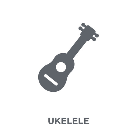 Ukelele icon. Ukelele design concept from Music collection. Simple element vector illustration on white background.