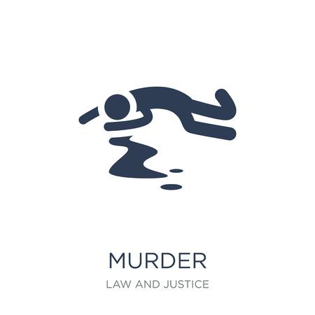 icona di omicidio. Icona di omicidio piatto vettoriale su priorità bassa bianca da collezione di legge e giustizia, illustrazione vettoriale può essere utilizzato per il web e mobile, eps10