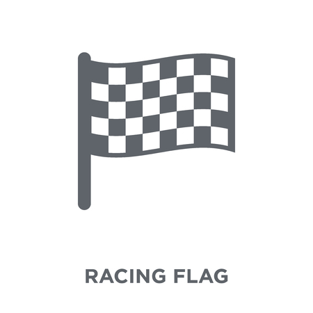 Racing flag icon. Racing flag design concept from Productivity collection. Simple element vector illustration on white background. Иллюстрация