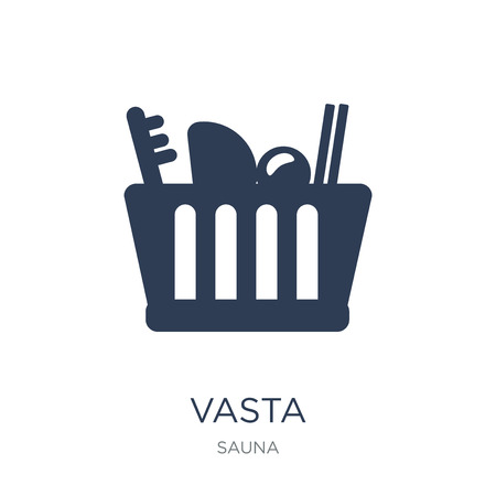 Vasta icon. Trendy flat vector Vasta icon on white background from sauna collection, vector illustration can be use for web and mobile, eps10 스톡 콘텐츠 - 112280347