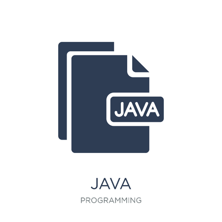 Java icon. Trendy flat vector Java icon on white background from Programming collection, vector illustration can be use for web and mobile, eps10