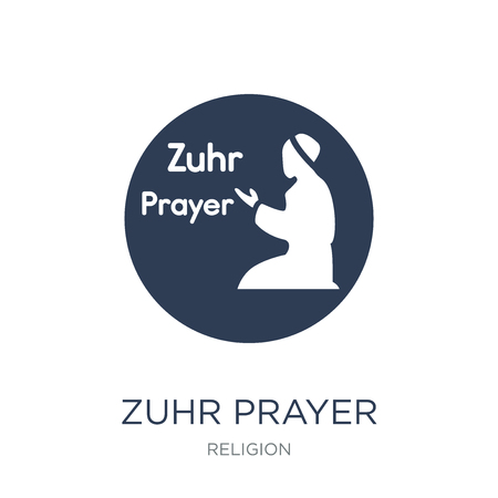 Zuhr Prayer icon. Trendy flat vector Zuhr Prayer icon on white background from Religion collection, vector illustration can be use for web and mobile, eps10