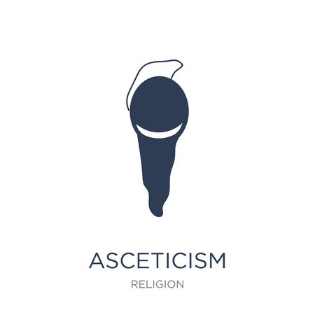 asceticism icon. Trendy flat vector asceticism icon on white background from Religion collection, vector illustration can be use for web and mobile, eps10