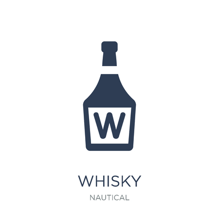 Whisky icon. Trendy flat vector Whisky icon on white background from Nautical collection, vector illustration can be use for web and mobile, eps10