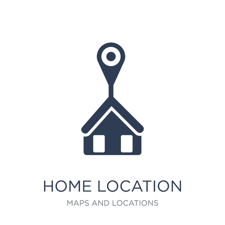Home Location icon. Trendy flat vector Home Location icon on white background from Maps and Locations collection, vector illustration can be use for web and mobile, eps10