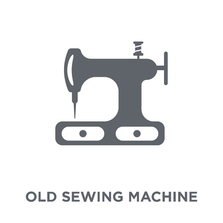 Old sewing machine icon. Old sewing machine design concept from Sew collection. Simple element vector illustration on white background. Иллюстрация