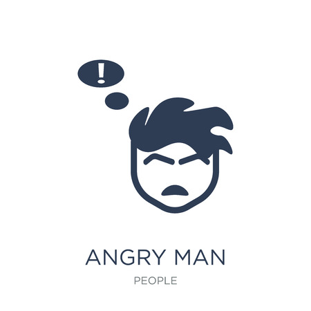 Angry Man icon. Trendy flat vector Angry Man icon on white background from People collection, vector illustration can be use for web and mobile, eps10