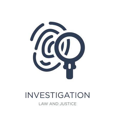 Icono de investigación. Icono de investigación de moda vector plano sobre fondo blanco de la colección de ley y justicia, Ilustración de vectores se puede utilizar para web y móvil, eps10