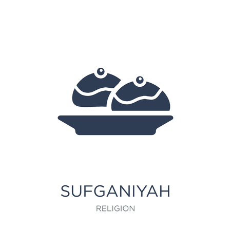 Sufganiyah icon. Trendy flat vector Sufganiyah icon on white background from Religion collection, vector illustration can be use for web and mobile, eps10 Illustration