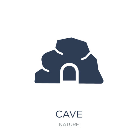 cave icon. Trendy flat vector cave icon on white background from nature collection, vector illustration can be use for web and mobile, eps10 Banco de Imagens - 112280615