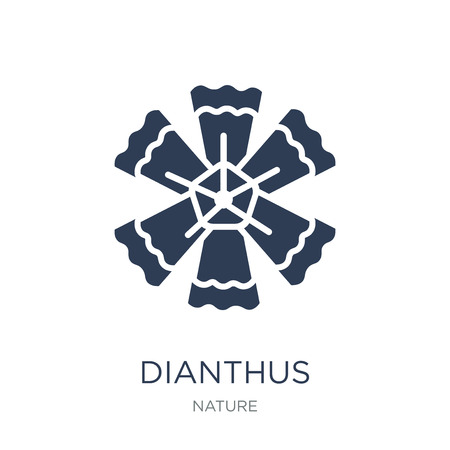 Dianthus icon. Trendy flat vector Dianthus icon on white background from nature collection, vector illustration can be use for web and mobile, eps10