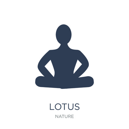 Lotus icon. Trendy flat vector Lotus icon on white background from nature collection, vector illustration can be use for web and mobile, eps10 Ilustrace