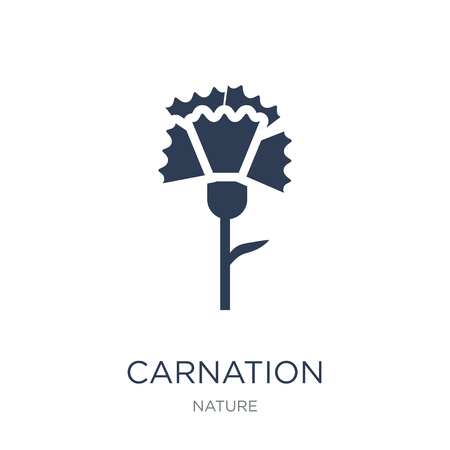 Carnation icon. Trendy flat vector Carnation icon on white background from nature collection, vector illustration can be use for web and mobile, eps10 Иллюстрация