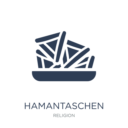 Hamantaschen icon. Trendy flat vector Hamantaschen icon on white background from Religion collection, vector illustration can be use for web and mobile, eps10
