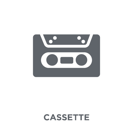 Cassette icon. Cassette design concept from  collection. Simple element vector illustration on white background.