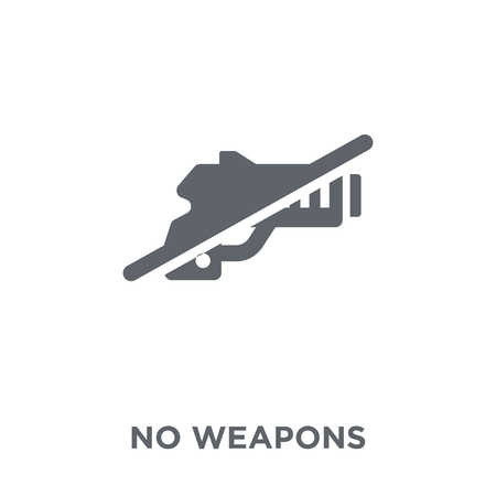 No weapons icon. No weapons design concept from  collection. Simple element vector illustration on white background.
