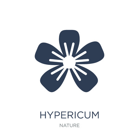 Hypericum icon. Trendy flat vector Hypericum icon on white background from nature collection, vector illustration can be use for web and mobile, eps10