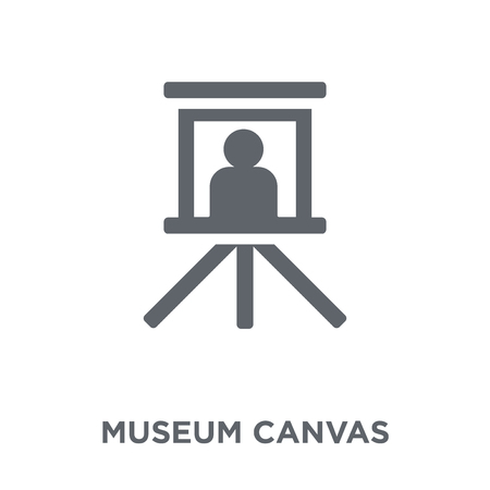 museum Canvas icon. museum Canvas design concept from Museum collection. Simple element vector illustration on white background.