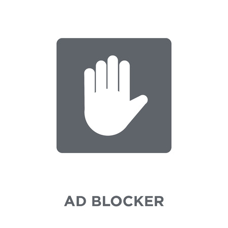 Ad blocker icon. Ad blocker design concept from Marketing collection. Simple element vector illustration on white background.