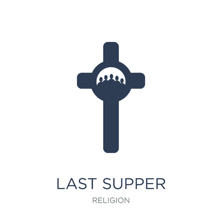Last supper icon. Trendy flat vector Last supper icon on white background from Religion collection, vector illustration can be use for web and mobile, eps10